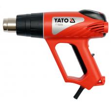 Фен технічний мережевий YATO. P= 2000 Вт 0~600° з регулятором температури (LCD)+6 акс YT-82293