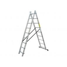 Драбина  2x8 універсальна, довжина 3,7/2,3м., вага 7,7кг LZ2108/LLA208 WERK