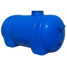 125л 421 Ємність горизонтальна кругла 51*90*45 ПластБак синя