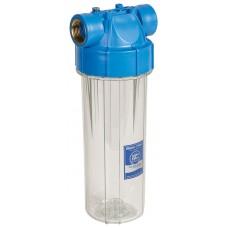 """Корпус фільтру 10"""" прозорий, возд. клапан, лат. різ. 1"""" FHPR1-B-AQ Aquafilter"""