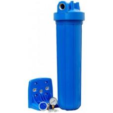 """Корпус фільтру 20"""" синій оновлений посилений натрубний типу """"Big Blue"""" FH20B1-B-WB 20"""" Aquafilter"""