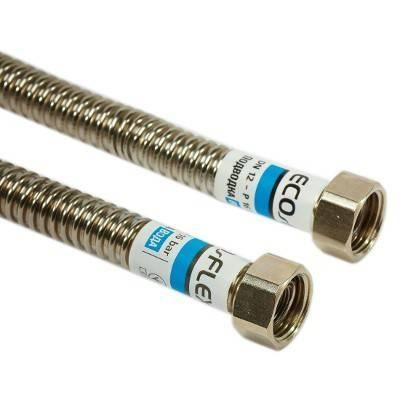 Шланг для води металевий нержавіючий СТАНДАРТ ECOFLEX d 1/2 0,3м г/г