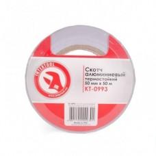 Скотч алюмінієвий термостійкий 50 мм*50м INTERTOOL KT-0993