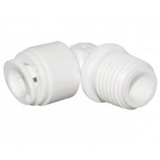 """Коліно до шланга 3/8"""" РЗх1/4"""", білий колір A4ME5-W Aquafilter"""