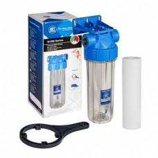"""Корпус фільтру 10"""" прозорий, возд. клапан, лат. різ. 3/4"""" FHPR34-B1-AQ Aquafilter"""
