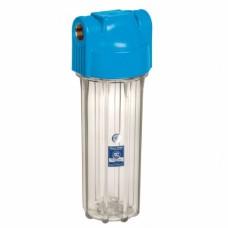 """Корпус фільтру 10"""" прозорий посилений, з лат. різ. 1/2"""", 10 bar, 2 уп. кільця FHPR12-HP-S Aquafilter"""