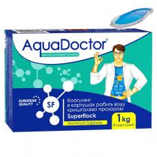 Aquadoctor SF (1кг) superflok, флокулянт (коагулянт) в картушах від каламутної води в басейні