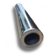 Труба двостінна d 130/200 1,0м нерж./оц.