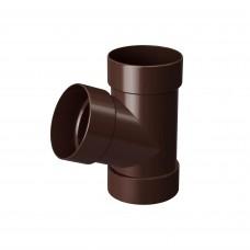 Трійник 100 67* Rainway (коричневий)