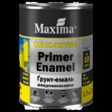 Грунт-емаль 0,75 кг швидковисихаюча, темно-коричнева ТМ Maxima