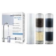 """Набір картріджів для жорсткої водопровідної води з підвищеним вмістом заліза """"SVOD-BLU"""" 3 - MCR/F"""
