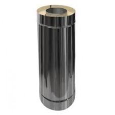Труба двостінна d 140/200 1,0м нерж./нерж  0,8мм