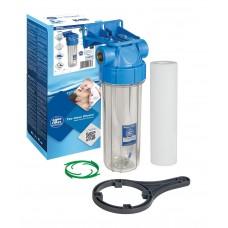 """Корпус фільтру 10"""" прозорий, возд. клапан, лат. різ. 1"""" FHPR1-B1-AQ Aquafilter"""